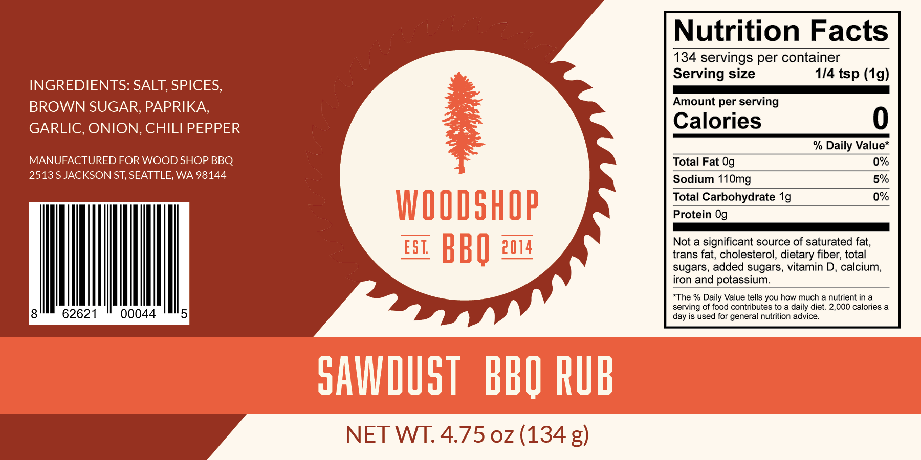Sawdust Label