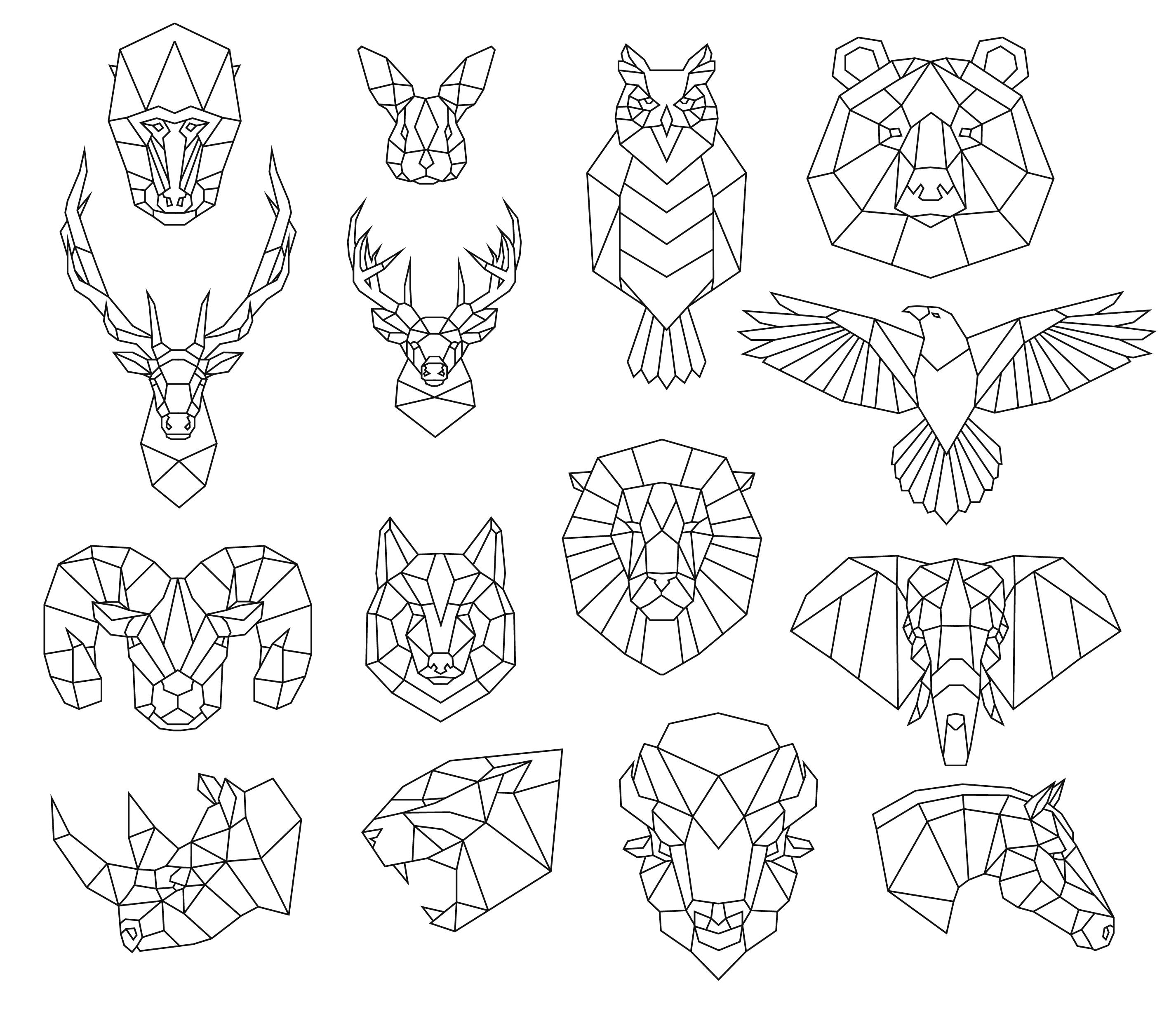 geometic animals